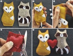 Super cute felt animals. I love felt! These would make sweet mobile pieces, or Christmas ornaments!
