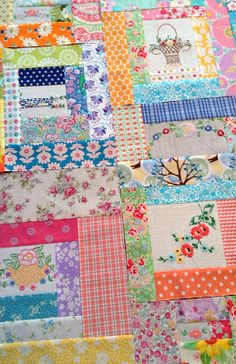 Repurposed linens quilt, Monday, August 26, 2013. I love the pieces of old embroidery.