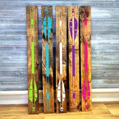 Arrow wood board - Girls Bedroom Decor, Wall Decor, Reclaimed Barn wood, Wood Home Decor, Gift for Her, Vinyl Arrow Design by LEVinyl on Etsy