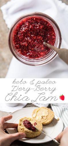 Paleo, Low Carb & Keto Chia Jam with your berry of choice! #keto #paleo #lowcarb #healthyrecipes #chia #jam
