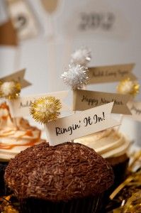 Cupcake toppers NYE sparkle