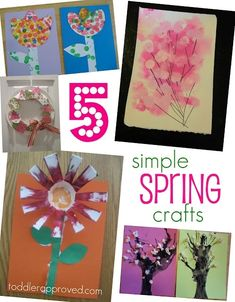 Kids spring crafts | Simple toddler spring crafts | Crafts for kids:)