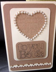 Kraft card and cream are a timeless combination for an engagement card:)