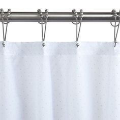 "Polyester Diamante Shower Curtain - White - 48"" W x 72"" H"