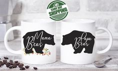 Items Similar To Mamma Bear Mug Mothers Day Gift Personalized Ideas From Daughter For Mom On