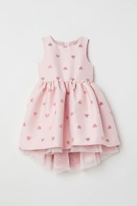 Jacquard-weave Dress | Light pink/hearts | KIDS | H&M US