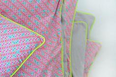 Petit Pan, Okiko, neon by Oontje, via Flickr  love this bedding!!