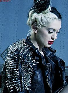 porcelain black... check out the studded jacket! Woo!