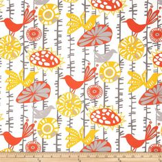 SALE   Premier Prints Menagerie Citrus Outdoor Fabric   Fabric By The Yard    Yellow,