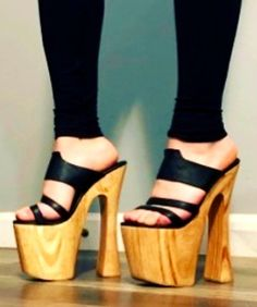 Hot High Heels, Platform High Heels, Sexy Heels, High Heels Stilettos, Shoes Heels, Bedroom Heels, Chunky Shoes, Heeled Mules, Shoe Boots
