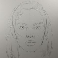 It's a freehand rough sketch before shading and toning. It's a freehand rough sketch before shading and toning. Easy Pencil Drawings, Unique Drawings, Realistic Drawings, Beautiful Drawings, Art Drawings Sketches, Face Proportions Drawing, Drawing Faces, Simple Face Drawing, Facial Proportions