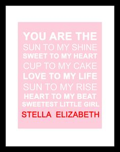 so sweet...and this is actually what I would name a baby girl if I ever have one...or Stella Rose :))