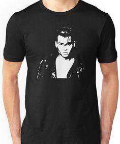 'Johnny Depp - Cry Baby' T-Shirt by ElysianArt Baby Crying Images, Baby Crying Face, Johnny Depp Cry Baby, Unisex Baby, Tshirt Colors, Neck T Shirt, Baby Design, Chiffon Tops, Heather Grey