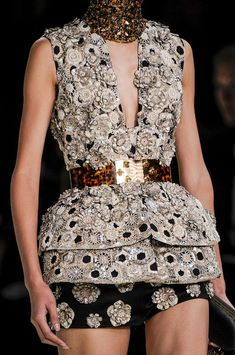 A is for Alexander McQueen by Sarah Burton:  Paris Spring 2013 - Details
