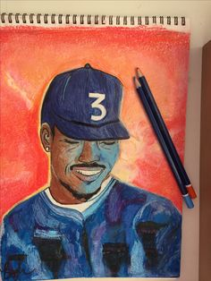 Chance the rapper #drawing #chancetherapper #artwork #pastel #pencil #color
