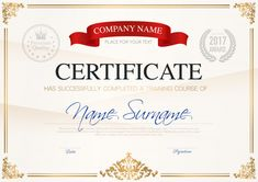Certificate of completion template Free Vector Certificate Of Completion Template, Certificate Design Template, Banner Template, Vintage Grunge, Banner Vertical, Adobe Illustrator, Training Certificate, Banners, Printable Certificates