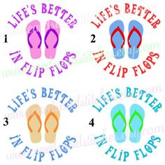 Flip Flops Vinyl Decal - Life's Better in Flip Flops Decal - Car Decal OR Glitter Iron-on Transfer - Shirt Iron-on Transfer - DIY Iron-on by cardsandstitches on Etsy