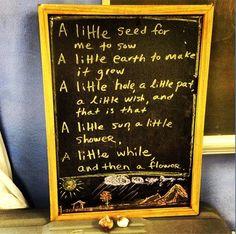 """Lovely garden verse that we say during gardening time at the Davis Waldorf School Summergarden camp."""