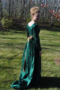 CUSTOM Silk Jane Austen Style Gown with sash and by MattiOnline, $175.00