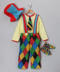 Love this Yellow Circus Clown Dress-Up Set - Kids by Dress Up America on #zulily! #zulilyfinds