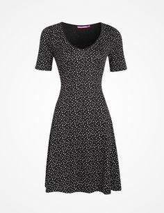 CORINNE dress black | Print | Jersey dress | Dress | Fashion | INDISKA Shop Online