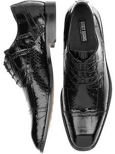 Shoes - Stacy Adams Cavallero Black Snakeskin Cap Toe Shoes - Men s  Wearhouse  89.99 bogo at 50% off bbd7b4c1810