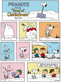 "Charles M. Schulz's classic ""Peanuts"" looks at the lives of Charlie Brown, Snoopy, and other favorite characters. Snoopy Comics, Peanuts Comics, Snoopy Cartoon, Peanuts Cartoon, Peanuts Gang, Charlie Brown And Snoopy, Schulz Peanuts, Peanuts Christmas, Funny Christmas"