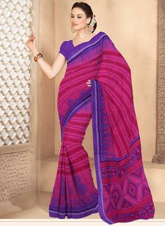 Blooming pink cotton #saree