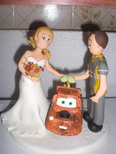 Topo de bolo de Jéssica e Alex