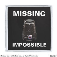 Missing Impossible Customizable Silver Finish Lapel Pin