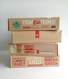 This Rustic Pie Box Design is Charismatic and Typically Canadian #packaging trendhunter.com