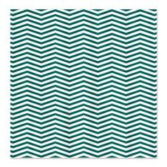 Turquoise Thin Chevron Pattern Shower Curtain