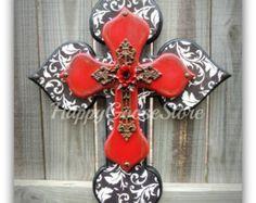 Wall Cross Wood Cross Medium Antiqued Black & by happygoose