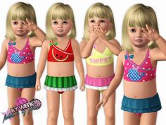 Tropicana swimsuit by Weeky - Sims 3 Downloads CC Caboodle