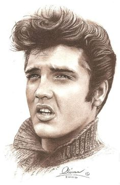 elvis.... so beautiful!   http://www.etsy.com/shop/essenceofus?ref=seller_info this girl has some amazing celebrity portraits