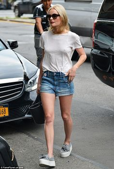 Relaxed: Kate Bosworth was spottedout and about in the East Village neighbourhood of New ...