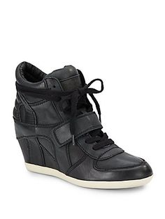 Bowie Ter Leather Wedge Sneakers
