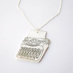 typewriter necklace by rareindeed--inspiration for print