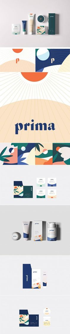 Prima cbd wellness product brand and packaging by Project M Plus Corporate Design, Brand Identity Design, Design Agency, Branding Design, Corporate Branding, Kids Branding, Bold Typography, Graphic Design Typography, Web Banner Design