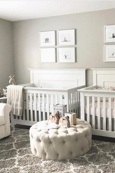 A comprehensive expert written guide to Designing a Twin Nursery where you'll learn how to set up a nursery for twins. Twin Baby Rooms, Baby Bedroom, Twin Babies, Baby Room Decor, Kids Bedroom, Twin Nurseries, Neutral Nurseries, Twin Nursery Gender Neutral, Nursery Twins