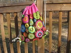 Drawstring Backpack with Embroidery by SweetNSassyDesigns on Etsy, $25.00