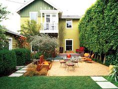 small backyard design planning. My yard is bigger, but I still like this