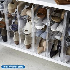 Our Premium Stackable Shoe Bin keeps your shoe collection highly visible and much more accessible. Use several on a shelf in the closet or simply place it on the floor. Stack several together or stack with other bins from our Premium Stacking Bin collection for a customized organization solution.