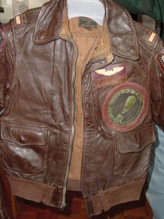 Image detail for -WWII-BOMBER-JACKET-W--MILITARY-PATCHES