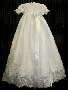 BEAUTIFUL handmaid baby blessing or christening dresses by an incredible seamstress!!