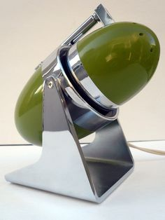 1960s Mod Green Bullet Intensity Desk Lamp | Hamilton Industries | Intensity lights make great bedside table lamps because they just use light where you point them without bothering others in the room and are energy/cost efficient.
