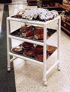 DIY PVC bakery cart.. something like this for trays/baskets for audge podge stuff