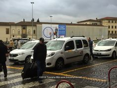 Taxi at SMN train Station in Florence