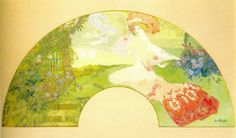 de Feure fan Femme pres d un etang 1901-1905