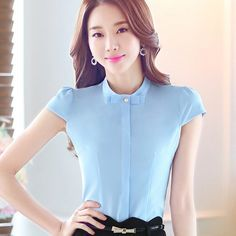 Cheap Blusas Y Camisas de Mujer 2016 Blusas Summer Tops mujeres Casual camisa Formal oficina de señora Camisas más tamaño blusa de gasa B572, Compro Calidad Blusas y Camisas directamente de los surtidores de China: